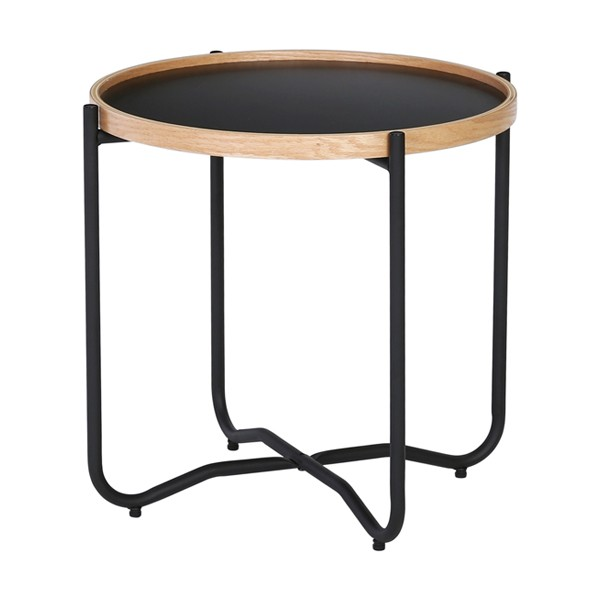 nestnordic-131022-tanix-side-table-802-matt-black-epoxy112-oak-veneer162-black-size-dia-495-x-46-cm
